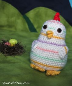 Rainbow Chicken Crochet Pattern - Squirrel Picnic