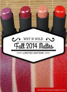 Review & Swatches: Wet n Wild Fall 2014 Limited Edition Megalast Lipsticks and Nail Color Collection.