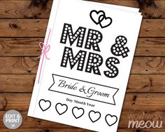 7 x 5 inch INSTANT DOWNLOAD Wedding Activity Book > Customizable front cover > Edit the text instantly at home using the FREE program Adobe Reader. > Print at home, online or at a print shop. > Perfect to keep children of all ages entertained. ------------------------- PERFECT FOR A...
