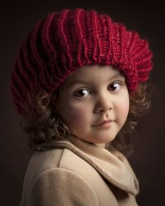 Red Beret by Bill Gekas - lovely face and eyes... someone's angel for sure... but then aren't they all...