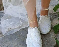 Informations About Sequins French lace bride shoes, flat wedding shoes, pearls rhinestone wedding shoes, bridal shoes, ivory wedding shoes Pin You can easily use my profi Winter Wedding Shoes, Wedding Shoes Bride, Wedding Boots, Lace Bride, Ivory Wedding, Flat Wedding Shoes, Comfortable Wedding Shoes, Wedding Dresses, French Wedding