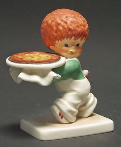 Goebel RED HEADS BY CHARLOT BYJ NOTHING BEATS A PIZZA