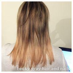 Becky gray hair and nails Balayage ombré highlights