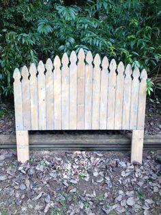 Rustic, Picket Fence Headboard