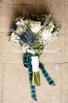 Bouquet with roses, thistles and dried lavender - Page 4 « Floral inspiration | Italian Wedding Dream