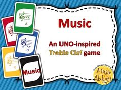 MUSIC: An UNO-inspired Treble Clef Card Game #musicclass #musiccardgame #musicsubidea