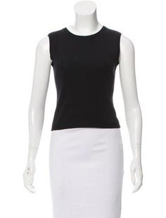 Valentino Sleeveless Knit Crop Top