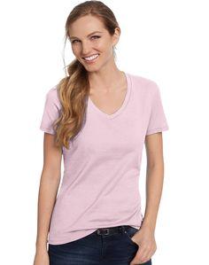 8eed98ecd9 Hanes Womens T-Shirt Short Sleeve Top Nano-T V-Neck Solid Plain