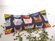 Organic Lavender Eye Pillow MEOW Cat Yoga by TwoBossyBritches