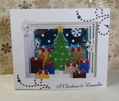 2014 #23 A Christmas to Remember Shadow Box Christmas Card