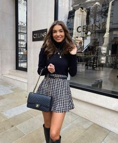 Cute Skirt Outfits, Winter Skirt Outfit, Casual Winter Outfits, Winter Fashion Outfits, Girly Outfits, Classy Outfits, Pretty Outfits, Fall Outfits, Outfit Summer