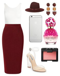 """""""Sans titre #4781"""" by merveille67120 ❤ liked on Polyvore featuring Sans Souci, Roland Mouret, Steve Madden, Janessa Leone, Native Union, MANGO, Marc Jacobs and NARS Cosmetics"""
