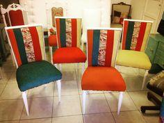 Juego de sillas patchwork