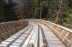 Alpine coaster with no brakes...... looks like fun ,,,wonder what the top speed is .