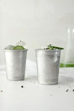 Cucumber Gin Salt and Pepper Cups by joy the baker, via Flickr