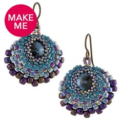 Peacock Earrings | Fusion Beads