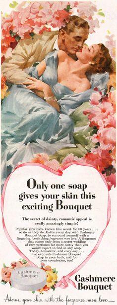 Vintage Ad: Cashmere Bouquet soap, 1949