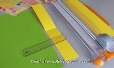 découpage bande de papier et gommettes