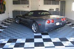 Garage Floor Tiles- I'll take the 'vette too