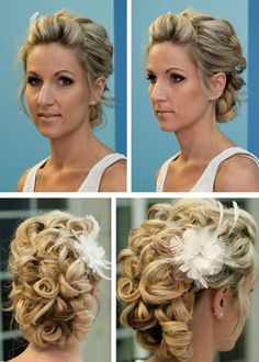 Updos for short hair - Weddingbee.com