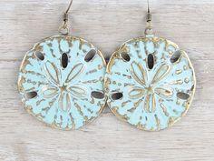 Beach Jewelry Sand Dollar Earrings