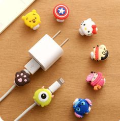 Cartoon Protector Saver Cover For iPhone Headphone&USB Charger Cable Cord #UnbrandedGeneric