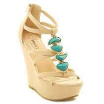 Strappy Wedge Platform #Heels