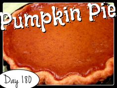 Pumpkin Pie Recipe [DAY 180] ★ watch the video: https://www.youtube.com/watch?v=ZzaT2GWkr1w&index=34&list=PLGRnDhMJALhH_GXl20Kx5lraCMUd2ltq1 ★  I'm trying A NEW RECIPE OF Laura in the Kitchen EVERY DAY and sharing its conversion into the metric system, come and join me on my yummy challenge! :)