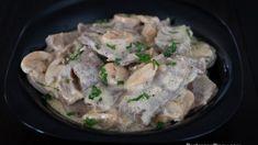 Creamy Lengua in White Sauce with Mushroom Tilapia Recipe Oven, Oven Baked Tilapia, Tilapia Recipes, Stuffed Hot Peppers, Stuffed Mushrooms, Filipino Recipes, Filipino Food, White Sauce Recipes