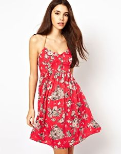 Image 1 of Only Floral Strappy Dress