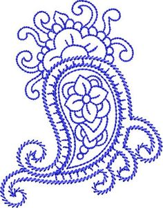 Bluework Paisley
