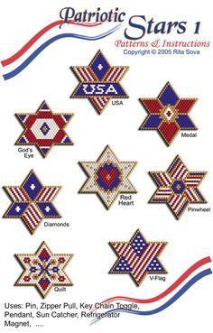 Patriotic Stars 1 | Bead-Patterns.com