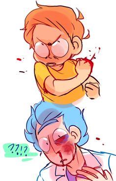 ttoba's Art Blog — ????????!!!????!!?? (I want dimension c137 Morty...