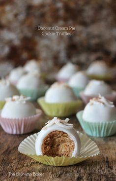 The Brunette Baker: Coconut Cream Pie Cookie Truffles