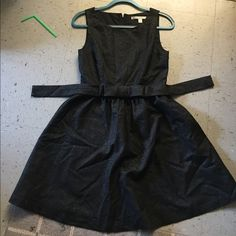 Shimmery Black Cocktail Dress with Bow Waist: 13 in, shoulder to hem: 34 in. Worn once! Any questions just ask!! Accepting offers! Lauren Conrad Dresses Midi