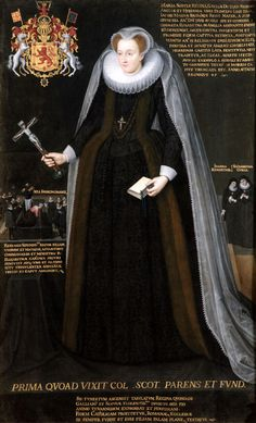 The Blairs Memorial Portrait of Mary, Queen of Scots-EXCERPT: 'One of the most iconic images of Mary, it was commissioned by Elizabeth Curle, one of Mary's closest companions during the final years of her English captivity. It represents Mary in preparation for her Catholic martyrdom on the executioner's block.'