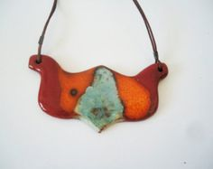 Amphora pendant Mediterranean. Ceramic jewelry. Clay by ClayAna