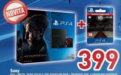 """Euronics: grande offerta PS4 con Metal Gear Solid V... Offertissima da cogliere al volo per gli appassionati della console Sony e della saga Metal Gear Solid, con l'ultimo volantino Euronics """"Svuot Negozio"""" si può approffitare, ancora per pochi giorni de"""