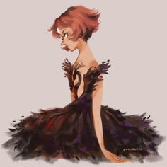 Pearl as Odile (the Black Swan)