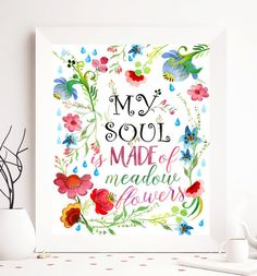 $5 Quote printable floral printable quote print by SoulPrintables