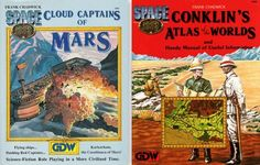 A couple of the supplements for Space 1889, Conklin's Atlas has a lot of cool maps.