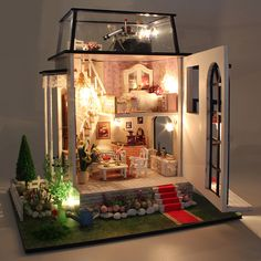 Model Building Hot Diy Glass Ball 3d Miniature Assemble Model Creative Diary Building Dollhouse Kits With Cute Funitures Festival Gifts Architecture/diy House/mininatures