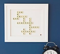 Personalised Scrabble® Art- I can definitely diy this for my scrabble mad family!