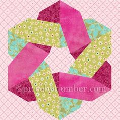 Knotty and Nice paper pieced quilt block by PieceByNumber - Craftsy