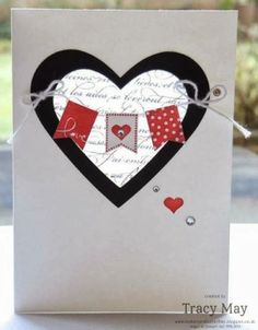 Stampin' Up! Independent Demonstrator UK - Tracy May: Hearts En Français - using Stampin' Up! Scrapbooking, Scrapbook Cards, Valentine Love Cards, Valentine Ideas, Engagement Cards, Stampin Up, Heart Cards, Kids Cards, Anniversary Cards