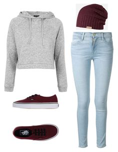 """""""Outfit Idea by Polyvore Remix"""" by polyvore-remix ❤ liked on Polyvore featuring мода, Topshop, Vans, Barts и Frame Denim"""