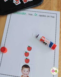 Apples on Top:  Make a Class Apple Counting Book [Free Template]