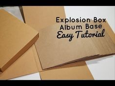 Explosion Box Album Tutorial **Simple and Fast** - YouTube