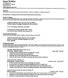 Resume For A Teacher Example Of Resume Format For Teacher Free Homeroom Teacher Resume