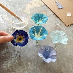 My pretties #paperflowers